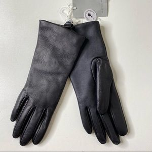 Nordstrom Leather Cashmere Lined Tech Gloves